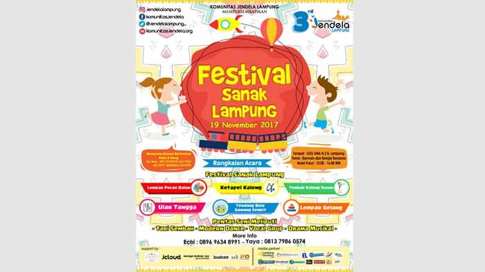 Siap-Siap! Komunitas Jendela Segera Gelar Festival Sanak Lampung