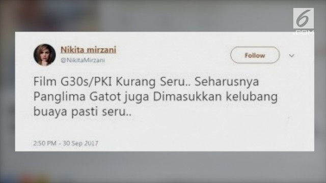 Nikita Mirzani Menghina Panglima TNI