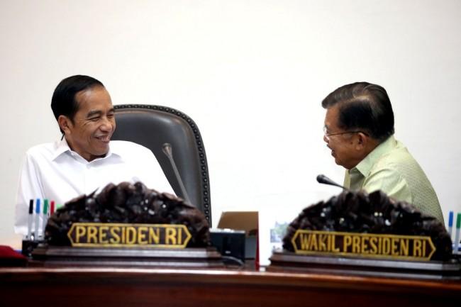 Presiden Joko Widodo dan Wakil Presiden Muhammad Jusuf Kalla