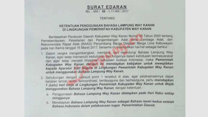 Wajib Berbahasa Lampung