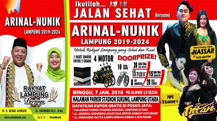 Jalan Sehat Arinal Lampung Utara
