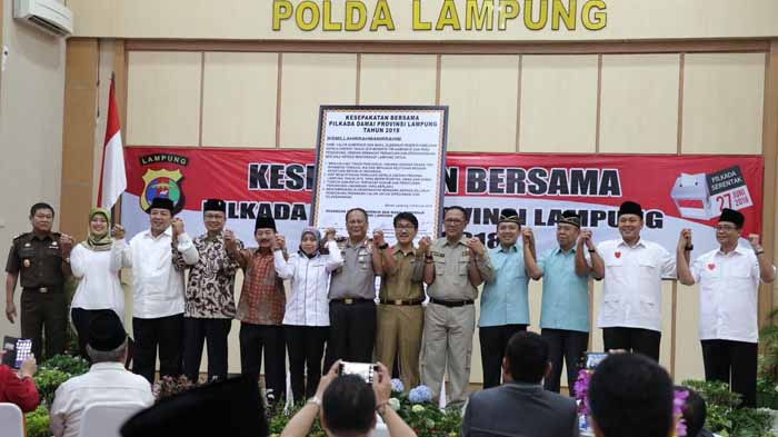 Deklarasi Pilkada Damai, Nanang Trenggono: Paslon Cagub Jangan Ada Klaim Wilayah