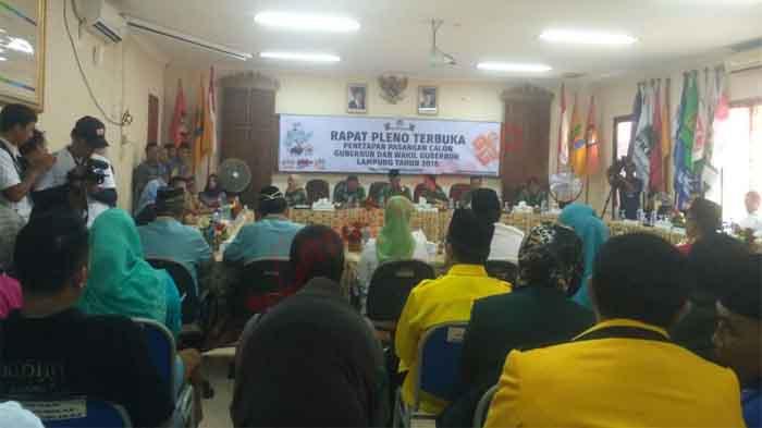 Sah, Empat Calon Dipersilakan Bertarung di Pilgub Lampung