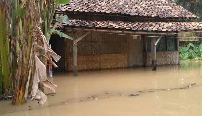 Puluhan Rumah Warganya Terendam Banjir, Ini Curhatan Kades Bandar Agung-Sragi