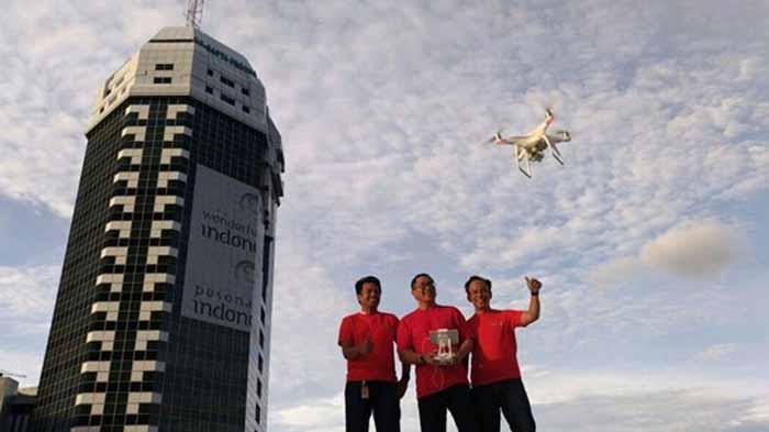 Indosat Rangkul Komunitas Drone di Indonesia