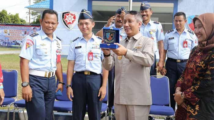 Pjs. Gubernur Lampung Kunjungan Kerja ke Lanud Pangeran M. Bunyamin