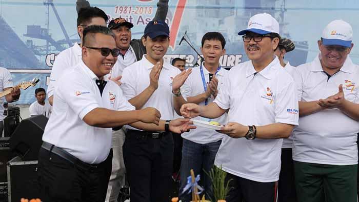 Sekdaprov Lampung HUT PT Bukit Asam Happy Run