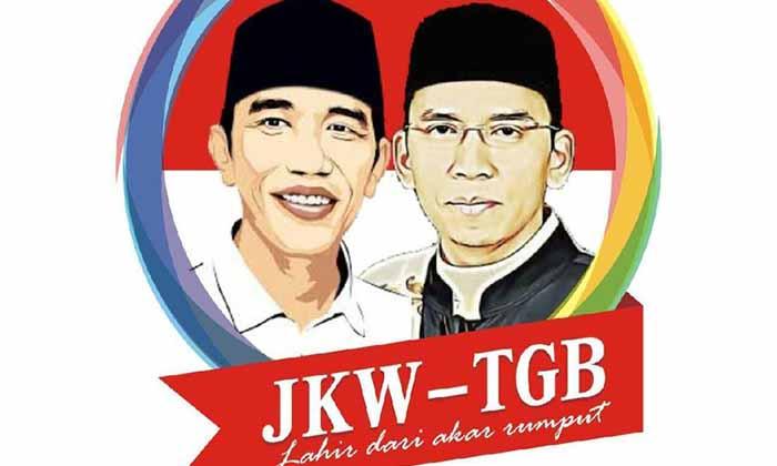 Pilpres 2019: Poster Duet Jokowi -Tuan Guru Bajang Beredar di WA