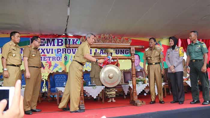 Buka LKS-SMK, Pjs. Gubernur Lampung Minta Siswa Berkompetensi secara Positif