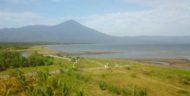 Pesona Pantai Sawmil Lampung, Perpaduan View Gunung Tanggamus dan TNBBS