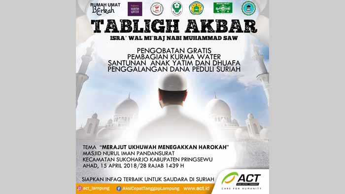 Tabligh Akbar Memperingati Isra Wal Mi'raj Nabi Muhammad SAW