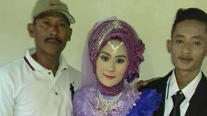 Wanita di Lampung Ini Sejak Lahir Tak Lihat Ayah, Bertemu saat Menikah