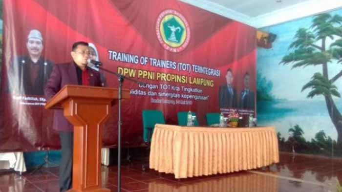 Hadiri ToT PPNI, Ketua DPRD Provinsi Lampung Apresiasi Solidaritas Anggota