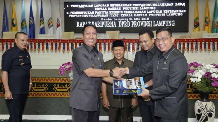 DPRD Provinsi Lampung Gelar Rapat Paripurna LKPJ Kepala Daerah Tahun 2017