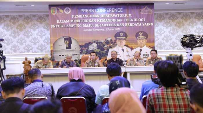 Gubernur Lampung: Teropong Bintang Lampung Akan Jadi Terbaik di Asia Tenggara