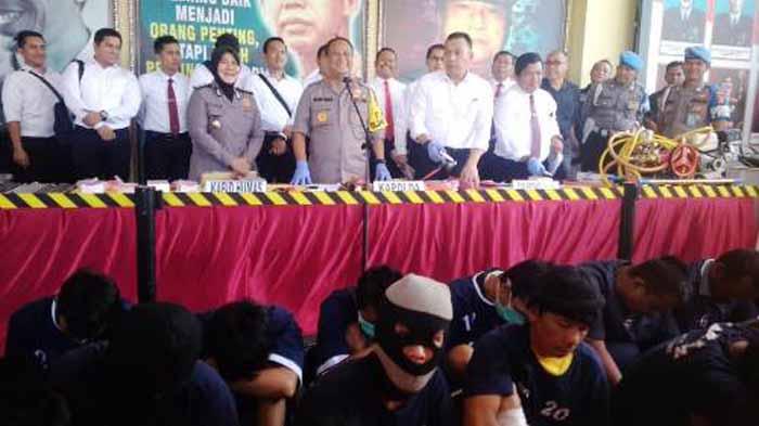 Puluhan Begal Lampung Ditangkap, 16 Ditembak dan Tiga Tewas