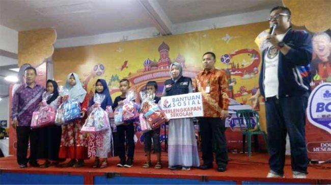 Chandra Gandeng ACT Lampung Salurkan Bantuan Sosial