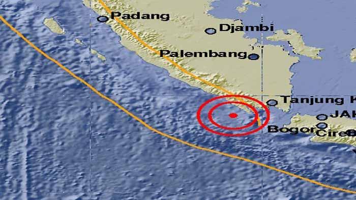 Gempa 3,7 SR Kembali Terjadi di Pesisir Barat Lampung