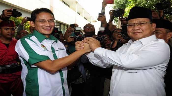 Sandiaga Uno dan Prabowo Subianto