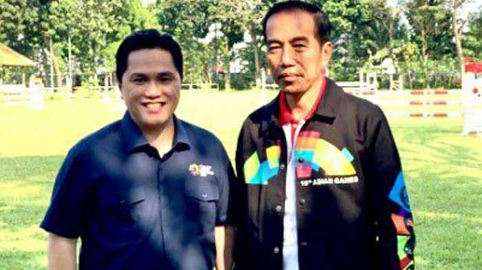 Jokowi Berhenti Pidato Saat Azan, Erick Thohir: Beliau Imam Yang Baik