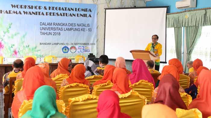 Bentuk Rasa Syukur, Darma Wanita Persatuan Unila Rayakan HUT Universitas Lampung