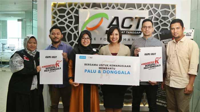 Vivo Indonesia Salurkan Bantuan 4 Miliar Untuk Korban Gempa melalui ACT