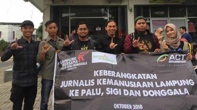 ACT Lampung ajak Jurnalis Liput Kondisi Terkini Palu, Donggala dan Sigi