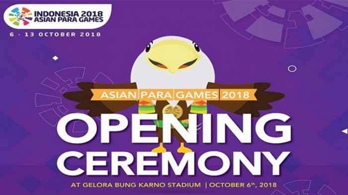 Opening Ceremony Asian Para Games 2018
