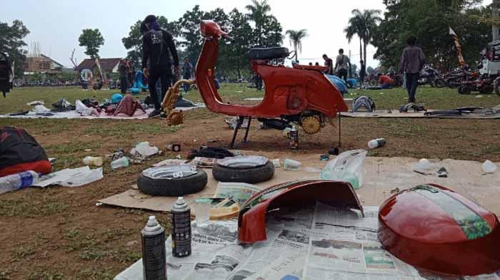 Ribuan Penggemar Scooter 'Ngumpul' di Kota Metro Lampung