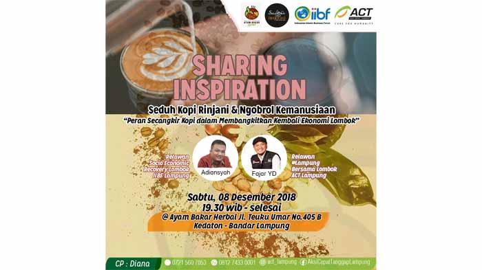 Yuk Ikut Ngobrol Kemanusiaan ACT Sambil Nikmati Kopi Rinjani Lombok