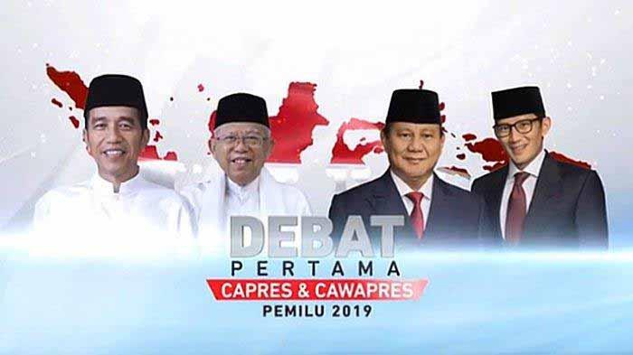 Debat Pertama Pilpres 2019