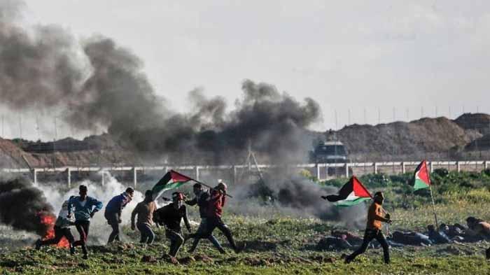 Bentrokan di Gaza