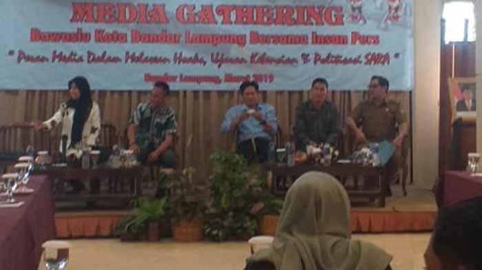 Media Gathering Bawaslu kota Bandar Lampung