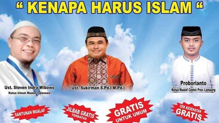 Mualaf Center  Lampung Siap Gelar Tabligh Akbar tema 'Kenapa Harus Islam'