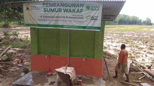 Sumur Wakaf Dibangun, Petani Lampung Tengah Berharap Panen Meningkat