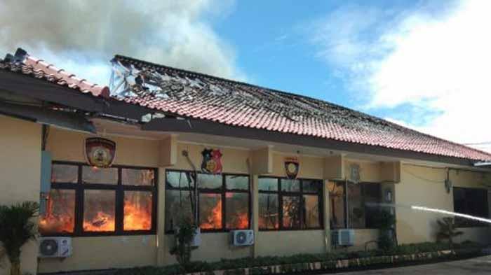 Kebakaran di Mapolres Lampung Selatan