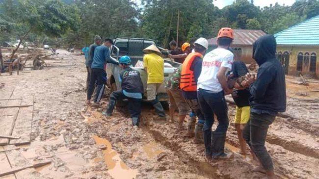 ACT Tembus Daerah Terdampak Banjir yang Terisolir di Konawe Utara