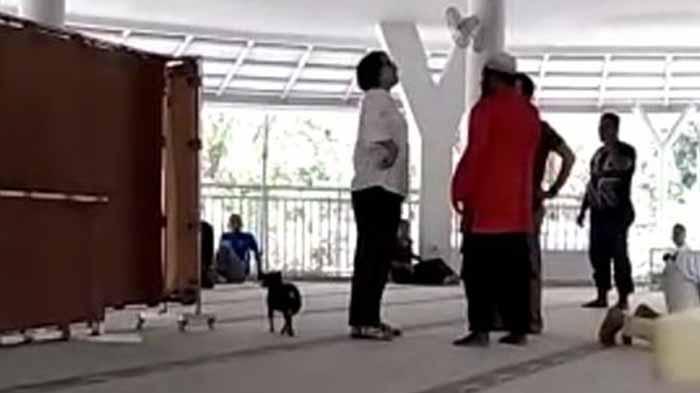 Wanita Bawa Anjing ke Masjid