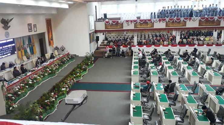 Sidang Paripurna DPRD Provinsi Lampung