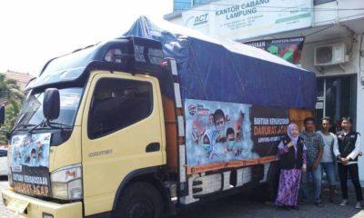 Bantuan Masyarakat Lampung untuk Korban Kabut Asap