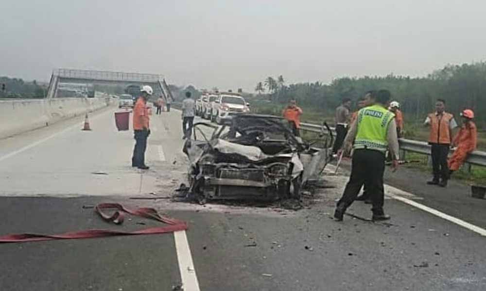 Kecelakaan di Jalan Tol Lampung