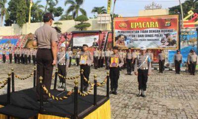 Upacara PTDH Anggota Polres Tanggamus