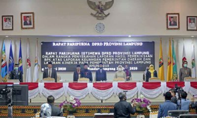 Rapat Paripurna DPRD Lampung