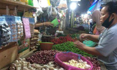 Pedagang Sembako di Pasar Tamin